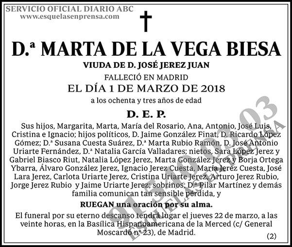 Marta de la Vega Biesa